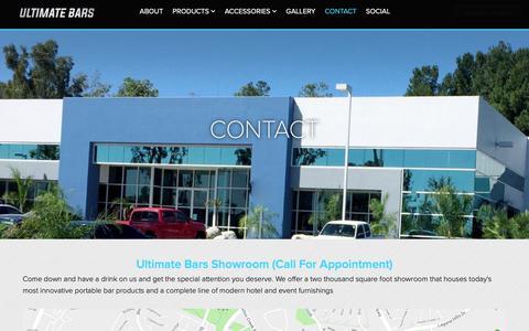 Screenshot of Contact Page ultimatebars.com - Contact - Ultimate Bars - captured Dec. 8, 2018
