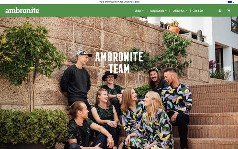 Screenshot of Team Page ambronite.com - Team - Ambronite US - captured April 5, 2019