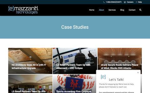 Screenshot of Case Studies Page emazzanti.net - IT Support Case Studies | Hoboken, NJ | eMazzanti - captured April 8, 2017