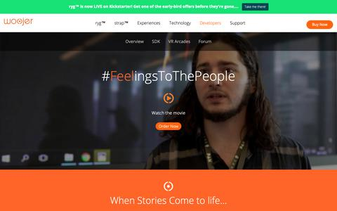Screenshot of Developers Page woojer.com - Developers - Woojer - Born To Feel - captured Oct. 20, 2018