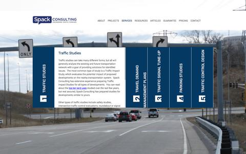 Screenshot of Services Page spackconsulting.com - Spack Consulting : Services - captured Nov. 2, 2017