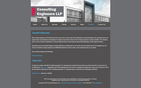 Screenshot of Jobs Page rsp.net - RSP Consulting Engineers LLP - Careers - captured Feb. 22, 2016
