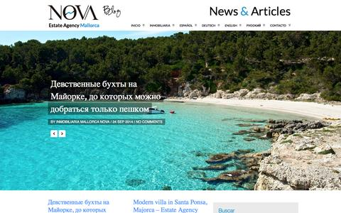Screenshot of Blog inmonova.com - Nova Multilingual Real Estate Blog - Nova Estate Agents - captured Sept. 25, 2014