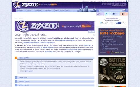 Screenshot of About Page zexzoo.com - Zexzoo.com | Your Night Starts Here - captured Oct. 26, 2014