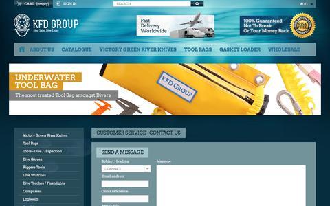 Screenshot of Contact Page kfd.com.au - Contact us - KFD Group - captured Feb. 12, 2016
