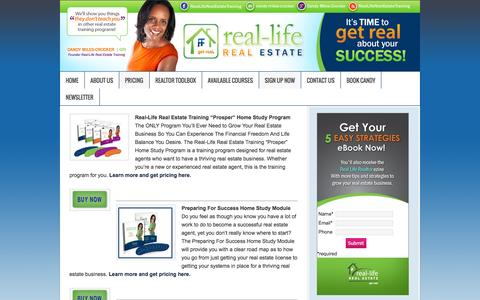 Screenshot of Pricing Page rlretraining.com - Pricing | Real Life Real Estate Training - captured Oct. 7, 2014