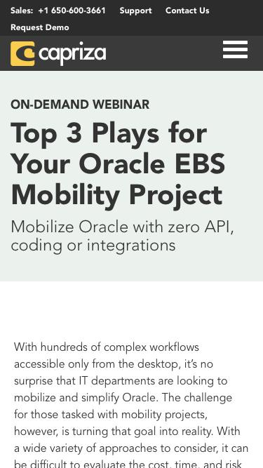 Top 3 Plays for Your Oracle EBS Mobility Project | Capriza