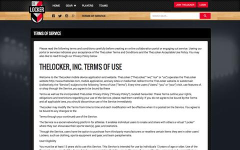 Screenshot of Privacy Page Terms Page thelocker.com - TheLocker - captured Oct. 22, 2014