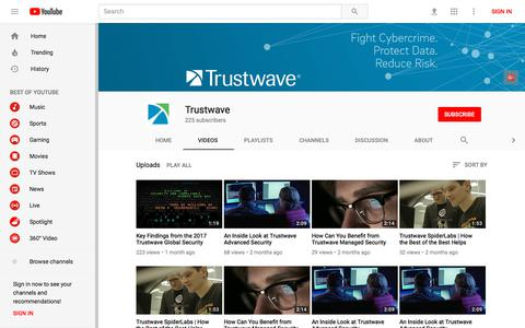 Trustwave - YouTube - YouTube