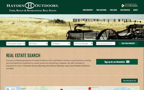 Screenshot of Maps & Directions Page haydenoutdoors.com - Real Estate Search | Hayden Outdoors - captured Sept. 22, 2018