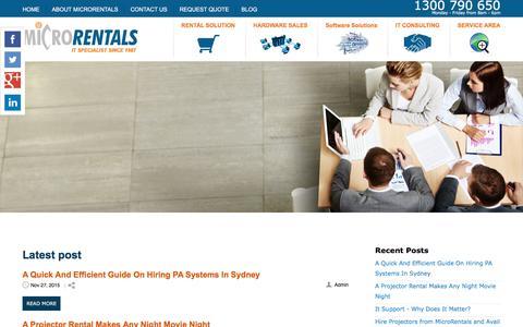 Screenshot of Blog microrentals.com.au - Blog - captured Feb. 1, 2016
