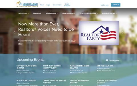 Screenshot of Home Page lirealtor.com - LIRealtor.com | The New Home for REALTORS! - captured Oct. 1, 2015