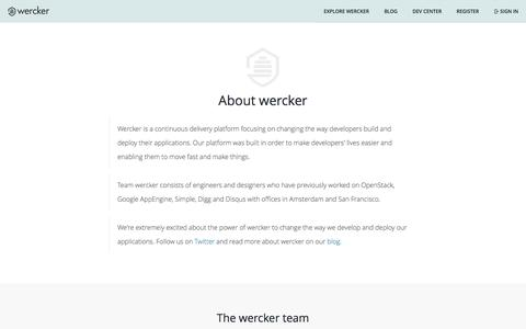 Welcome to wercker - About