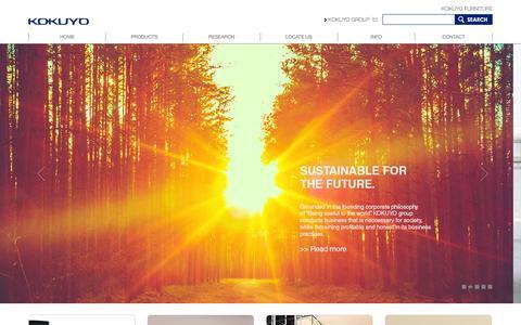 Screenshot of Home Page kokuyo-furniture.com - Home - Kokuyo - captured Jan. 25, 2015