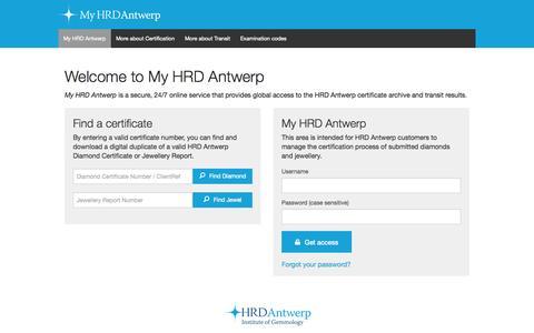 Screenshot of Login Page hrdantwerp.com - My HRD Antwerp-My HRD Antwerp - captured Oct. 28, 2014