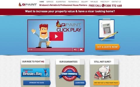 Screenshot of Home Page qpaint.com.au - Qpaint - Painters Brisbane | House Painting | Painting Services Brisbane - captured Sept. 27, 2014