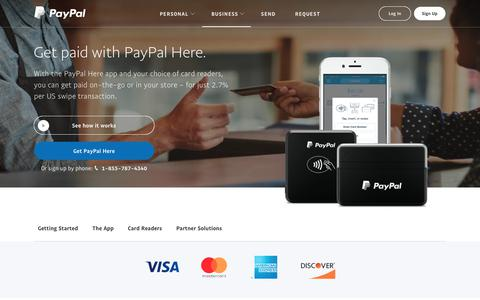 PayPal Here: Credit Card Readers & Mobile Point of Sale App