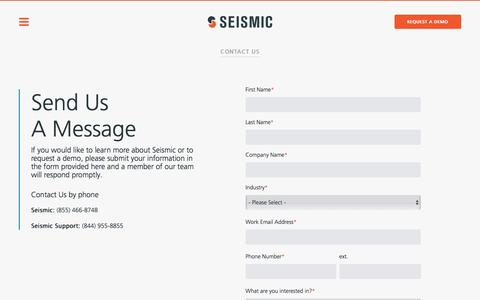 Contact Us | Seismic