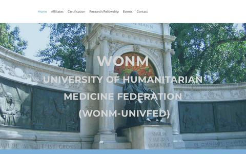 Screenshot of Home Page wonmunivfed.org - Home - captured Oct. 18, 2018