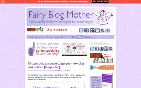 Screenshot of Blog fairyblogmother.co.uk - Fairy Blog Mother's blog posts - captured Sept. 24, 2014