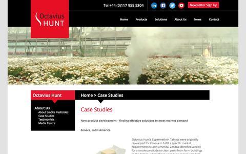 Screenshot of Case Studies Page octaviushunt.co.uk - Case Studies   Octavius Hunt - captured Oct. 19, 2017