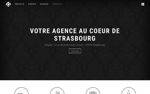 Screenshot of Contact Page adipso.com - Agence Adipso - Votre agence web et mobile - captured March 4, 2016
