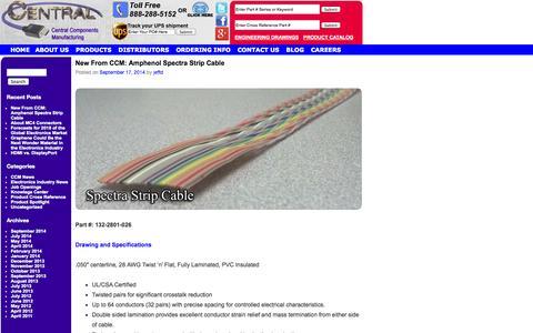 Screenshot of Blog centralcm.com - CCM Blog | Custom Cable Assemblies, PCB Connectors, Electronic Components - captured Oct. 2, 2014