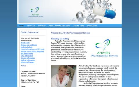Screenshot of Home Page activerx.net - ActiveRx Pharmaceutical Services - Home - captured Oct. 7, 2017