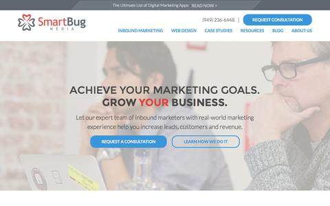 Screenshot of Home Page smartbugmedia.com - Inbound Marketing Agency | Diamond HubSpot Partner | SmartBug Media - captured Nov. 27, 2015