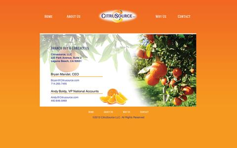 Screenshot of Contact Page citrusource.com - Citrusource - captured Oct. 5, 2014