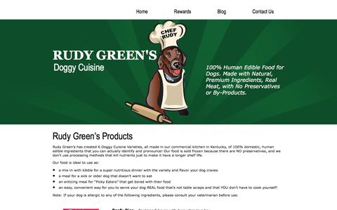 Screenshot of Products Page rudygreens.com - Rudy Green's Products | RUDY GREEN'S - captured Oct. 23, 2017