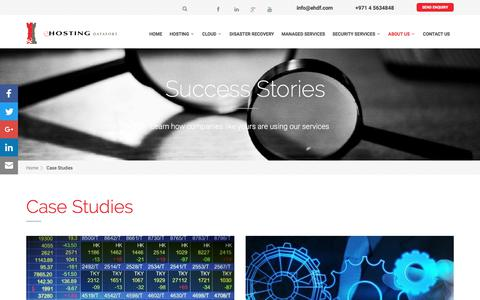 Screenshot of Case Studies Page ehdf.com - Case Studies | Welcome to eHDF - captured Sept. 17, 2017