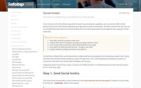 Social Invites · SMS API | Infobip
