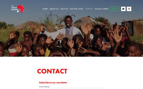 Screenshot of Contact Page virtualdoctors.org - Contact - captured Sept. 25, 2018