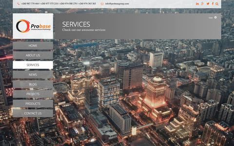 Screenshot of Services Page probasegroup.com - Services |  ProBase Limited - captured Sept. 11, 2017