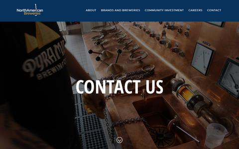 Screenshot of Contact Page nabreweries.com - Contact Us   North American Breweries - captured Sept. 27, 2018