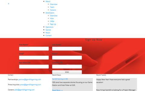 Screenshot of Signup Page gamblitgaming.com - Sign Up : Gamblit Gaming - captured Jan. 5, 2016