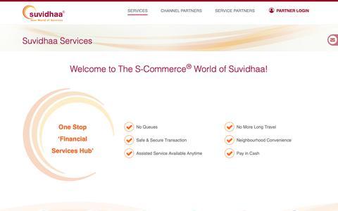 Screenshot of Services Page suvidhaa.com - Suvidhaa Infoserve Pvt. Ltd. - captured Oct. 2, 2018