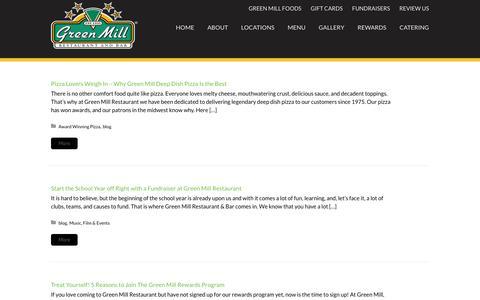Screenshot of Blog greenmill.com - News & Blog | Green Mill Restaurant & Bar - captured Sept. 30, 2018
