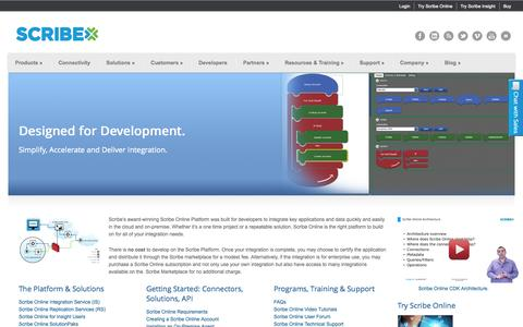 Screenshot of Developers Page scribesoft.com - Developers - captured Oct. 10, 2014