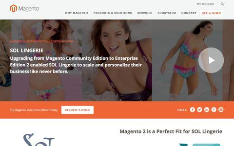 Screenshot of Case Studies Page magento.com - SOL Lingerie | Magento - captured March 9, 2017