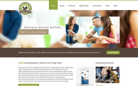 Screenshot of Testimonials Page purezaforlife.com - PureZa For Life · Unleash The Good - captured Oct. 3, 2014