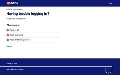 Login Assistance | Landing Page