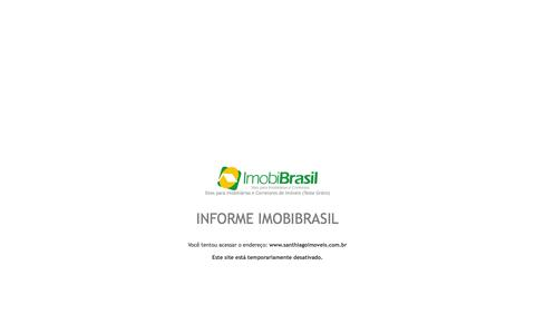 Screenshot of Home Page santhiagoimoveis.com.br - IMOBIBRASIL - Site para Imobiliárias - captured Oct. 1, 2014