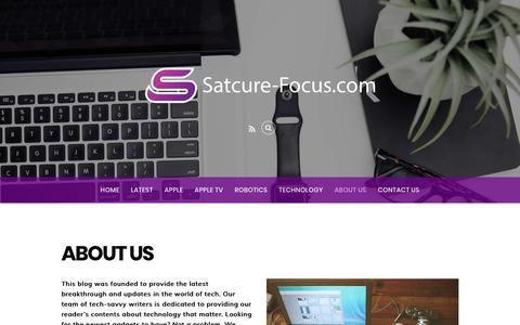 Screenshot of About Page satcure-focus.com - About Us - Satcure-Focus.com - captured July 3, 2018
