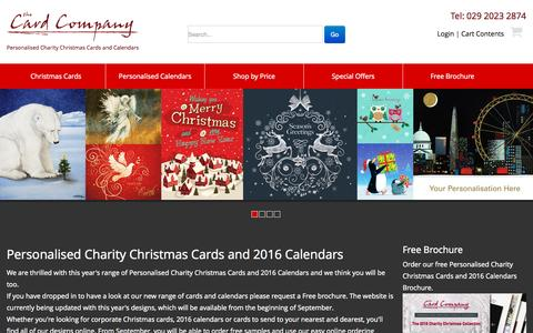 Screenshot of Home Page card-company.co.uk - Personalised corporate charity christmas cards and calendars from The Card Company UK - captured Sept. 4, 2015