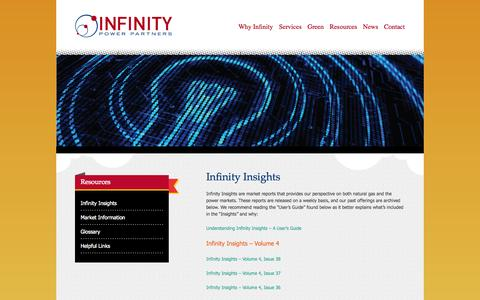 Screenshot of FAQ Page infinitypowerpartners.com - Infinity Insights | Infinity Power Partners - captured Oct. 6, 2014