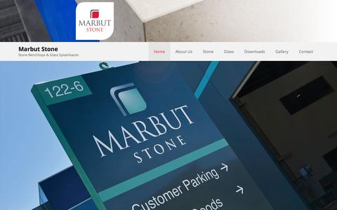 Screenshot of Home Page marbut.com.au - Marbut Stone | Stone Benchtops & Glass Splashbacks - captured Feb. 12, 2016