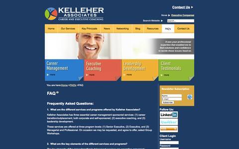 Screenshot of FAQ Page kelleherllc.com - FAQ   Kelleher Associates - captured Oct. 3, 2014
