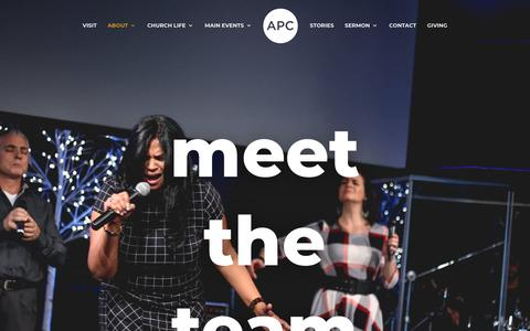 Screenshot of Team Page allpeopleschurch.ca - Leadership | All People's Church - captured July 29, 2018